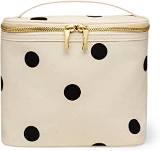 Kate Spade New York Insulated Soft Cooler Lunch Tote with Double Zipper Close and Carrying Handle, Big Deco Dot