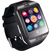 JZORI Q18 Bluetooth Smart Watch Touchscreen with Camera Unlocked Watch Cell Phone with Sim Card Slot Smart Wrist Watch Smartwatch Phone for Android Samsung IOS iPhone 7 Plus 6S (Black)