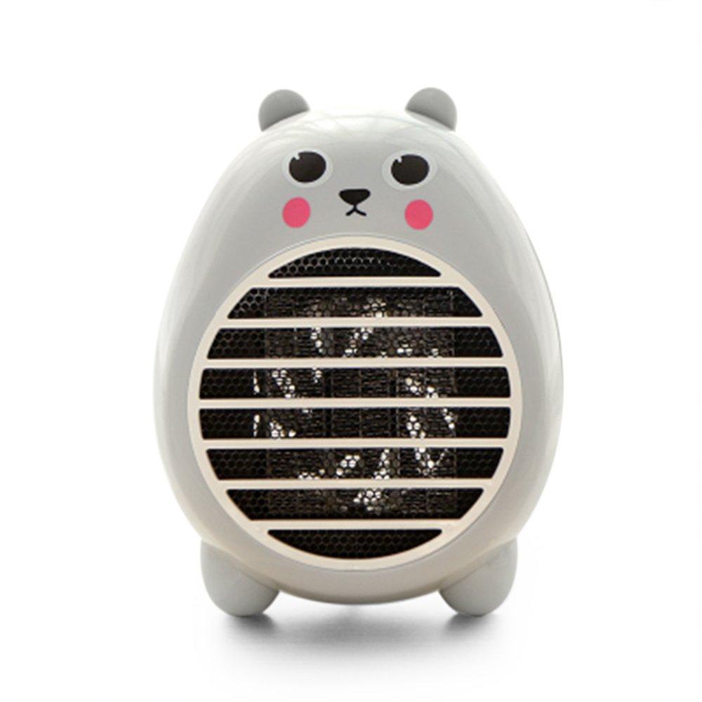 UCAN Safety Heater Fan Energy-saving Heater Cute Mini Household Room Office Desktop Electric Fan Heater Air Warmer (Grey)
