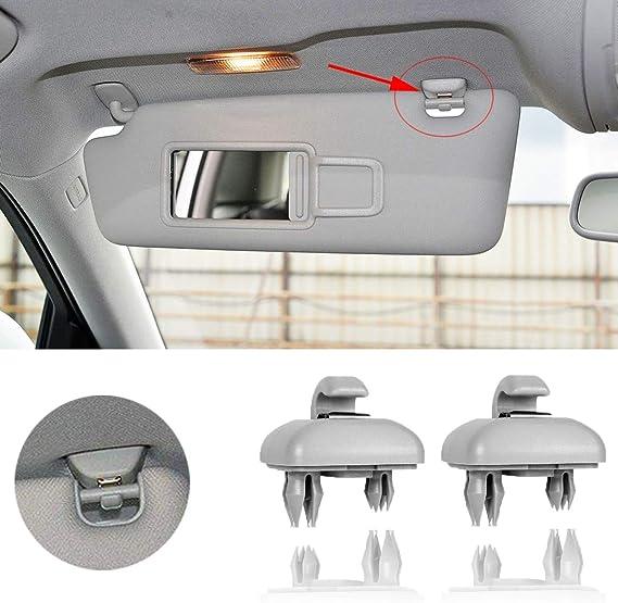Artuxer 2-Pack Black Interior Sun Visor Hook Clip Bracket for 2013-2016 Audi A1 A3 A4 A5 Q3 Q5