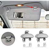 Porpor Booya 2-Pack Interior Sun Visor Hook Clip Bracket for Audi A1 A3 A4 A5 Q3 Q5(8E0 857 562) (Grey)