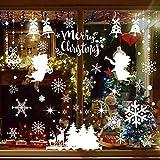 iLovepaper - 6 hojas de copos de nieve navideños para ventana, pegatinas de invierno, decoración de país de las maravillas, suministros para fiestas