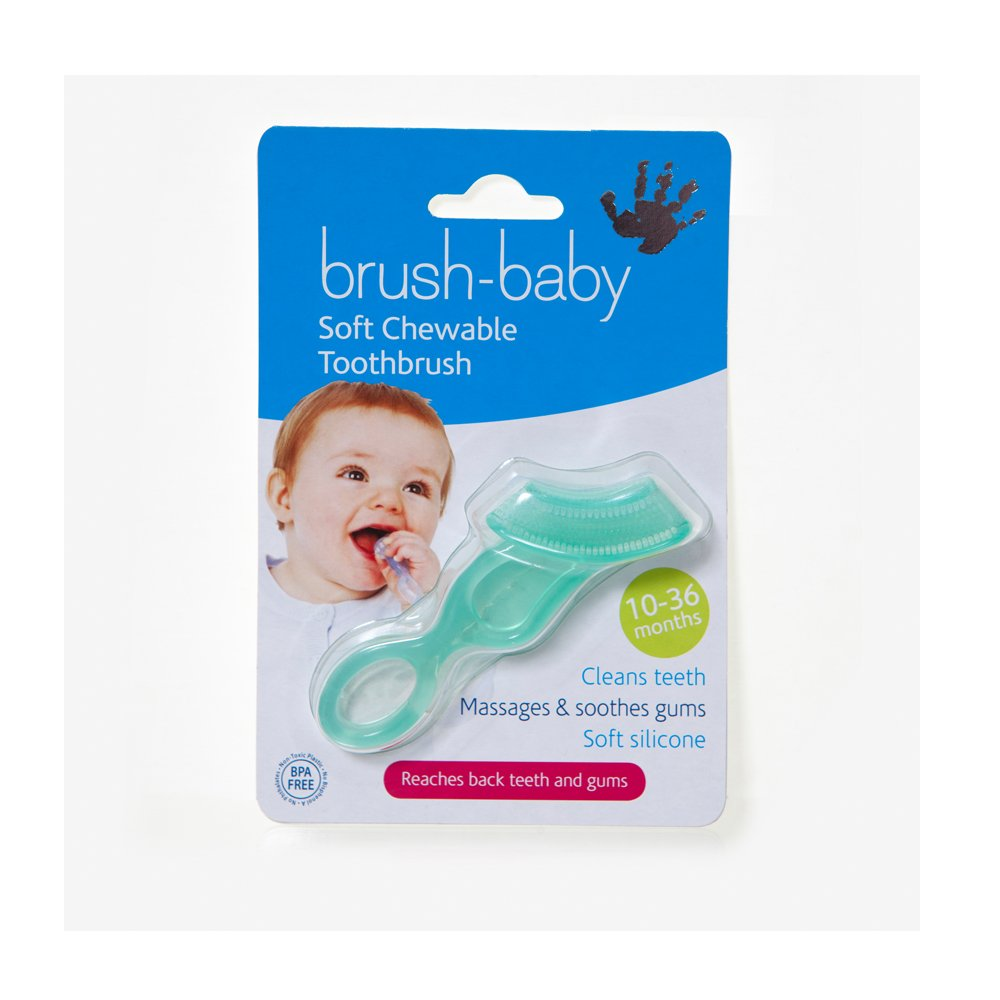 BrushBaby - cepillo de dientes suave, masticable, 10-36 meses: Amazon.es: Bebé