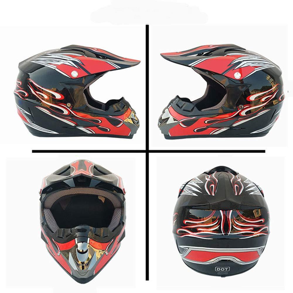 Casco de Motocross de la certificaci/ón de la Carrera de Resistencia ATV Casco Elementos de dise/ño de Moda,A,S(54~55) CM