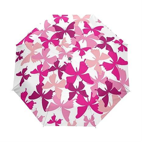Foldable Romantic Butterfly Custom Umbrellas Rain Custom Umbrellas Women Kids Custom Umbrella Rain Gear Sun Beach