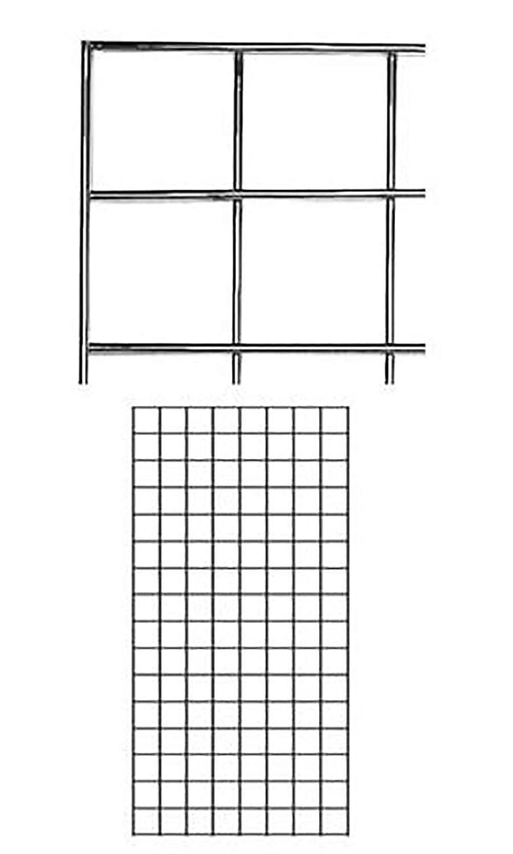 Chrome 2 X 4 Wire Grid Panel