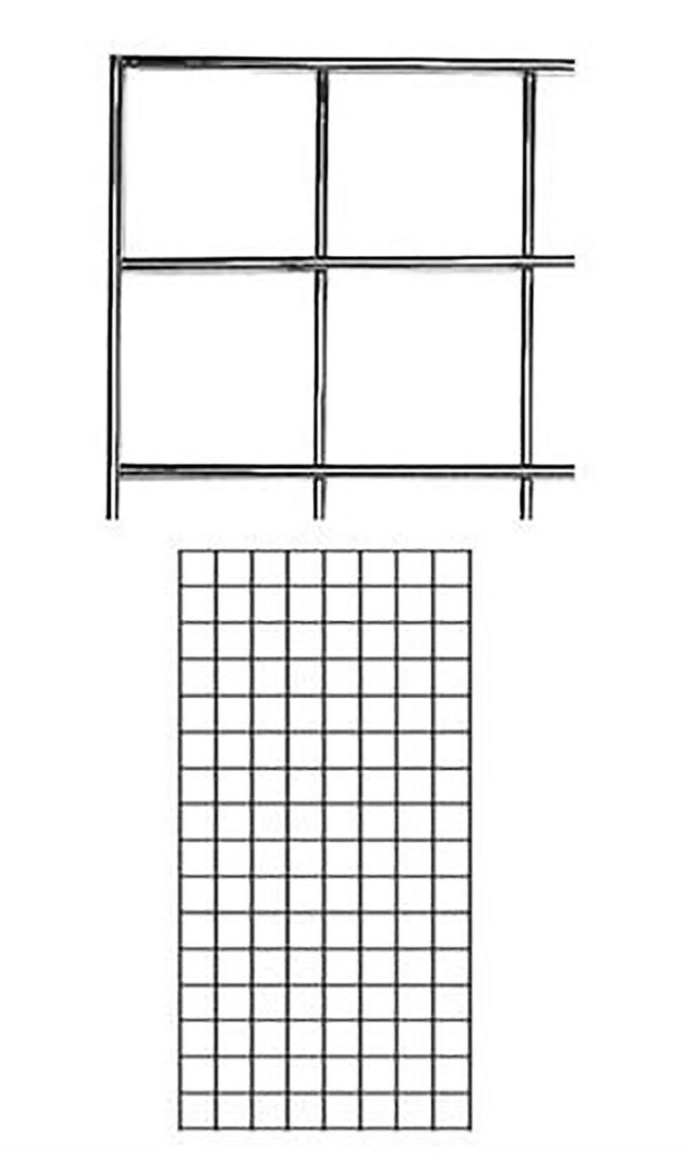 2' X 4' Wire Grid Panel - Chrome