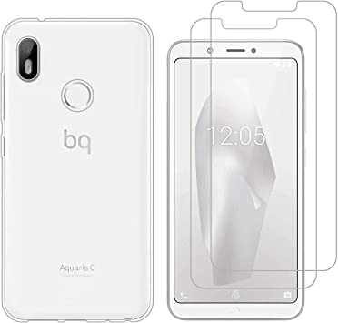 jrester Funda BQ Aquaris C,Flexible Suave Transparente TPU Gel ...