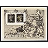 1990 150th Anniversary of the Penny Black Miniature Sheet No. 6 - Royal Mail Stamps by Royal Mail