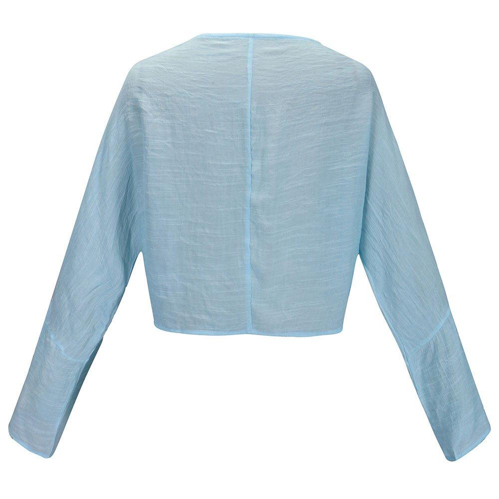 Qingsiy Loose Fit Blusa básica Tops Casual Elegante Tallas Grandes ...