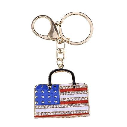 Amosfun América Bandera Llavero Bolso Regalo Colgante EE.UU ...