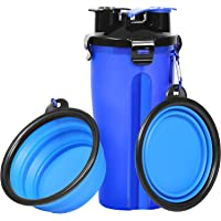 UPSKY Dog Water Bottle Dog Bowls for Traveling Pet Food Container 2-in-1 with Collapsible Dog Bowls, Outdoor Dog Water Bowls for Walking Hiking Travelling