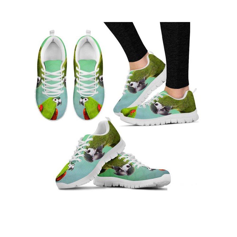 Shoetup Cute Red Shouldered Macaw Parrot Print Mens Casual Sneakers