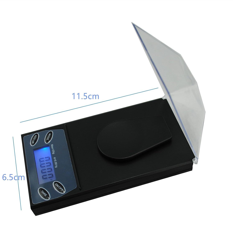 Hoosiwee Báscula Digitales de Precisión, 20g 0.001g Báscula de Joyería, Miligramos Escala, Función de Tara, Peso de Calibración: Amazon.es: Oficina y ...