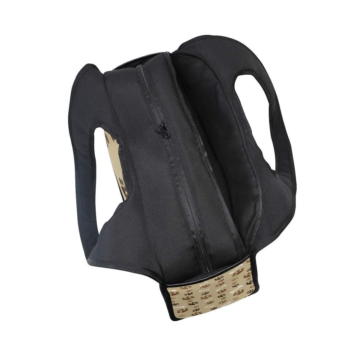 Animals Dog Cat Paw Prints Women Sports Gym Totes Bag Multi-Function Nylon Travel Shoulder Bag