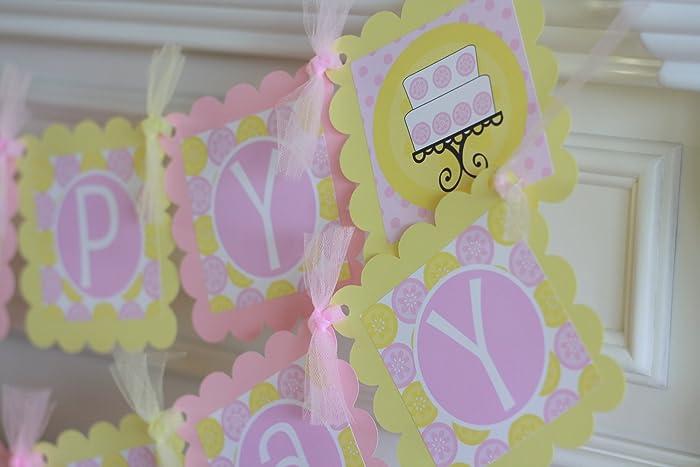 Amazon Happy Birthday Light Pink Yellow Strawberry Lemonade