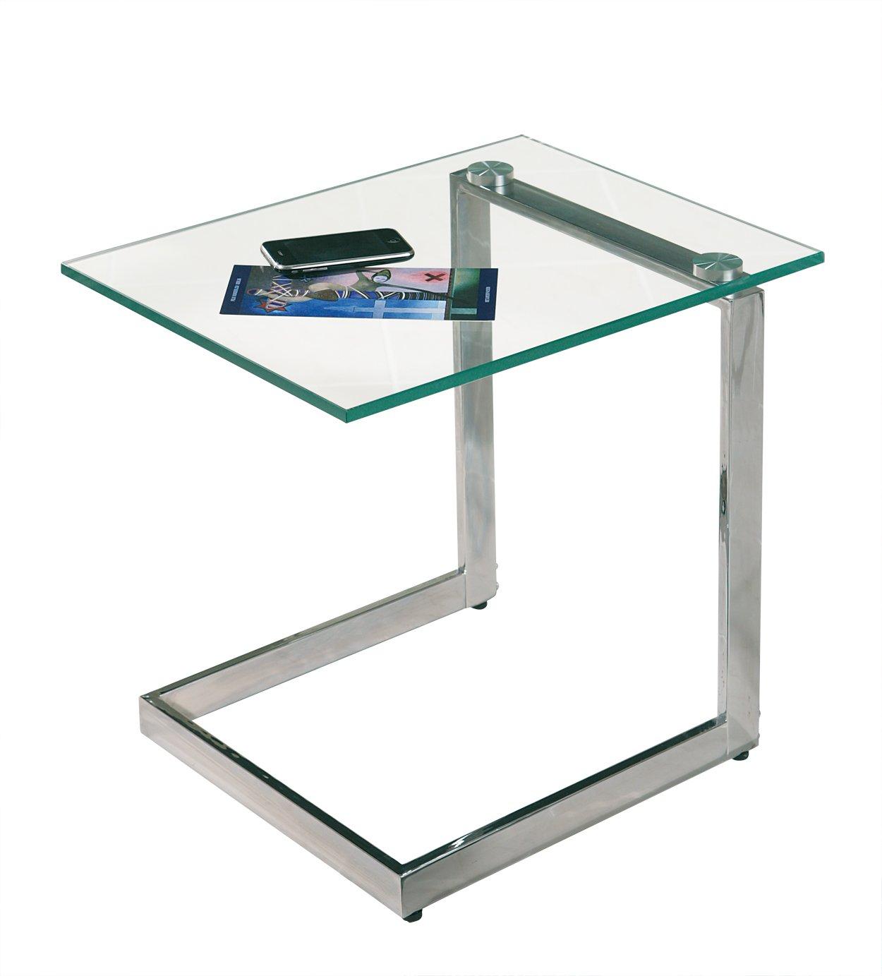 Beistelltisch glas chrom  Links 99100900 Beistelltisch