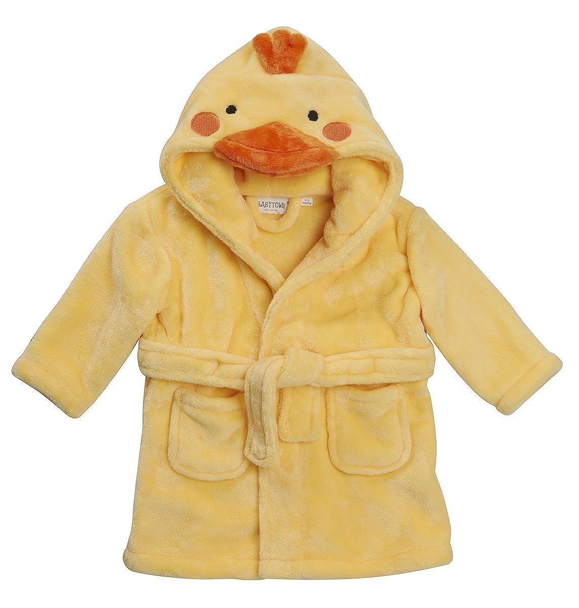 BABYTOWN Cute Animal de bebé suave con capucha de terciopelo albornoz