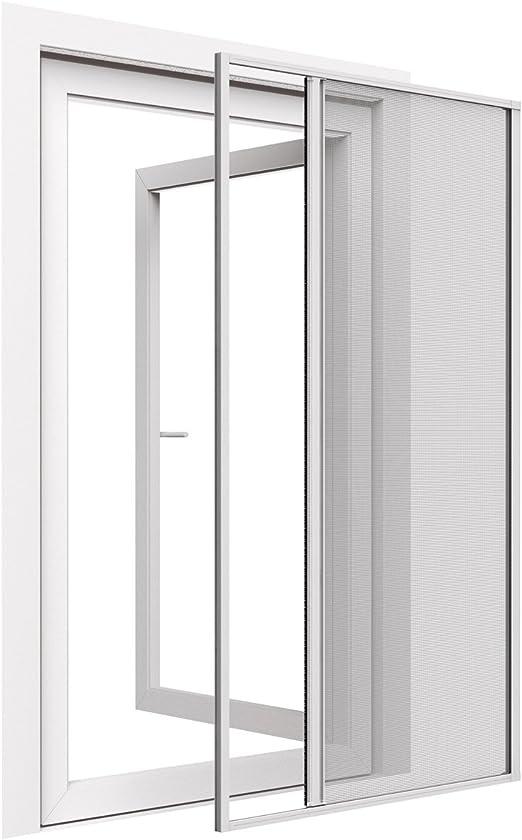 Easy Life aluminio de protección contra insectos Estor Greenline para puertas 150 x 220 cm puerta corredera en color blanco – Estor para puerta aluminio + fibra de vidrio kürzbar: Amazon.es: Hogar