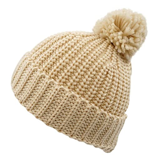 6e79b1a9353 Amazon.com  LLmoway Kids Toddler Warm Knit Beanie with Pom