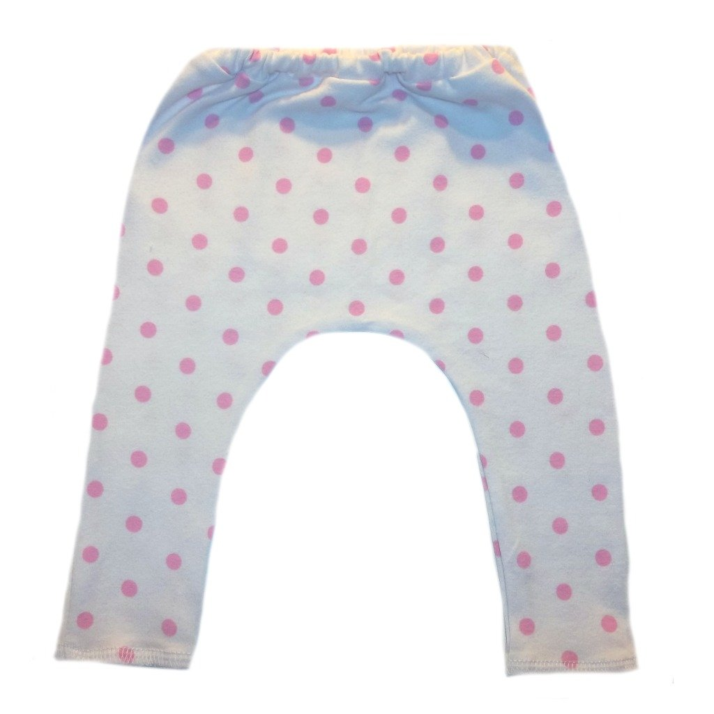 925ba1148 Amazon.com: Jacqui's Baby Girls' White With Pink Polka Dot Leggings:  Clothing