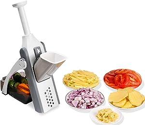 FYINTON Adjustable Slicer Safe Vegetable Cutter Kitchen Food Chopper,Dicer Fruit,French Fry Julinner,Slices,Dices,Grinded Garlic Quick Easy Meal Preparation & Durable for Home Kitchen