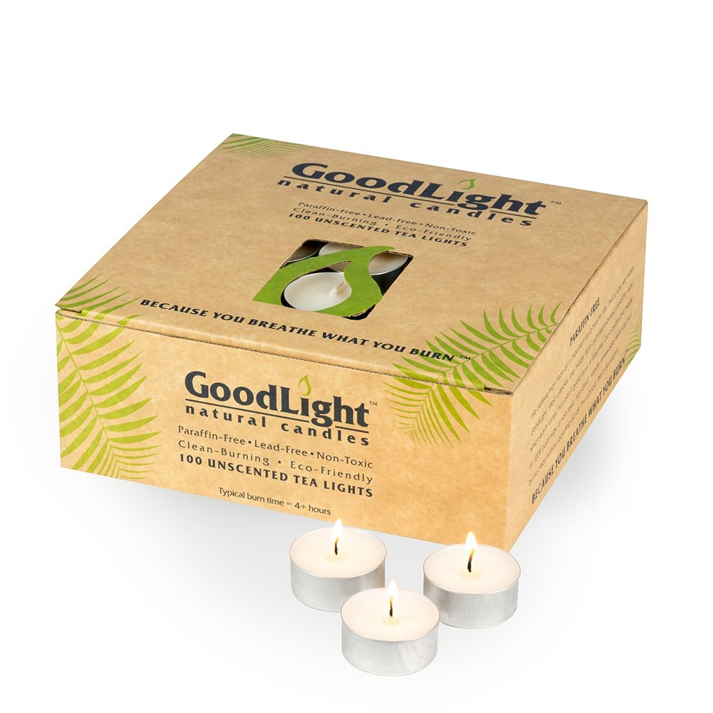 GoodLight Paraffin-free Tea Lights - Case of (400) by GoodLight Natural Candles
