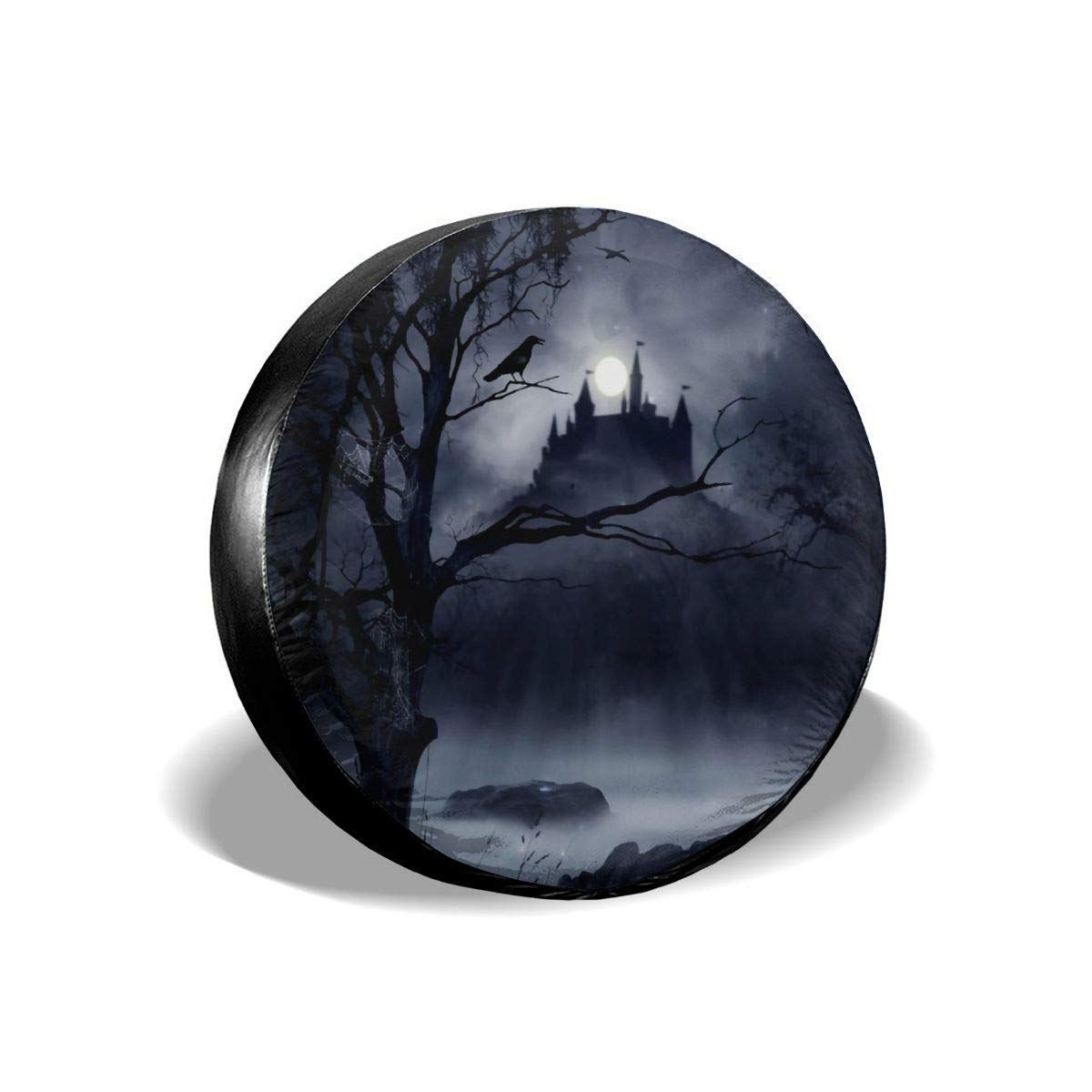 Acme/&Real Scary Castle Spare Tire Cover Waterproof Universal Spare Wheel Tire Cover Diameter14 15 16 17