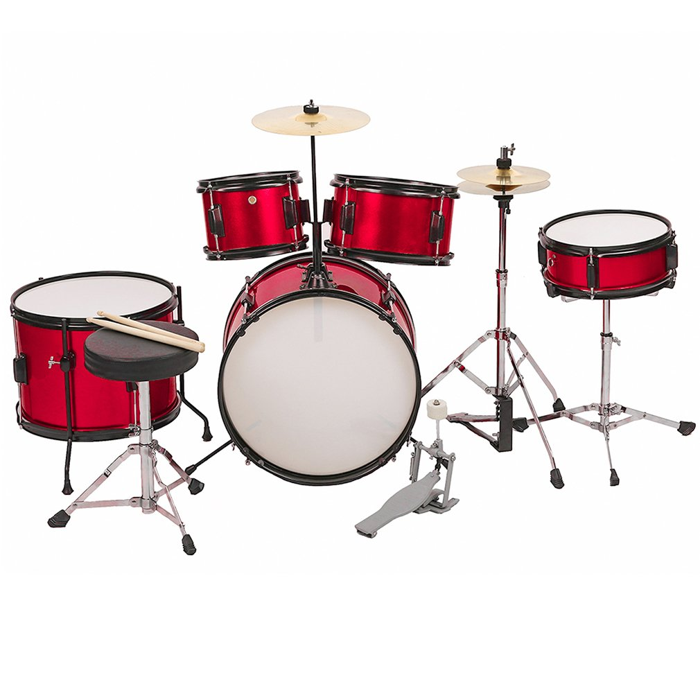 Drum sets Children Kids Complete 16 inch Junior Drum with Metallic Red