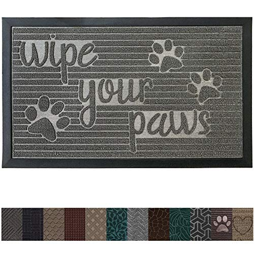 Gorilla Grip Original Durable Rubber Door Mat, 29x17, Heavy Duty Pet + Dog Doormat, Indoor Outdoor, Waterproof, Easy Clean, Low-Profile Mats for Entry Garage, Patio,