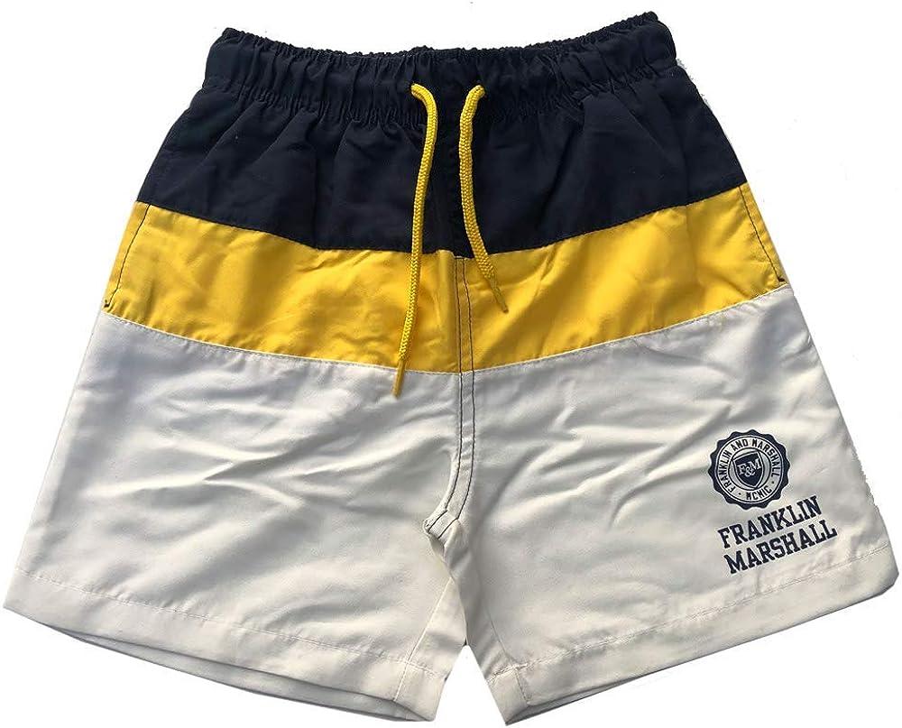 Franklin /& Marshall Ragazzi Nuoto Pantaloncini Navy//Giallo//Bianco Sporco et/à 6Y-1