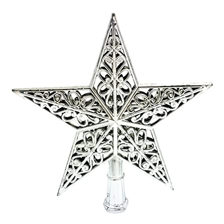 08065d02f624 Eizur Christmas Tree Top Sparkle Star Hang Xmas Decoration Ornament Treetop  Topper Home Decor--