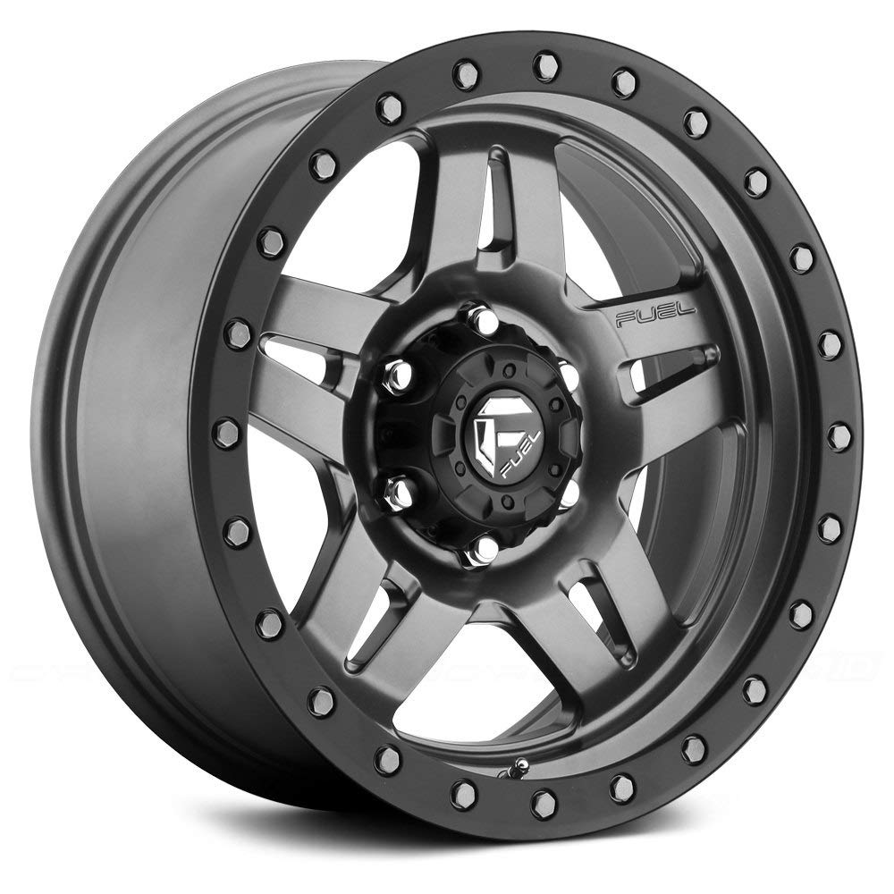 Fuel D558 Anza Сustom Wheel - Graphite with Matte Black Bead Ring 20'' x 9'', 1 Offset, 8x170 Bolt Pattern, 125.1mm Hub