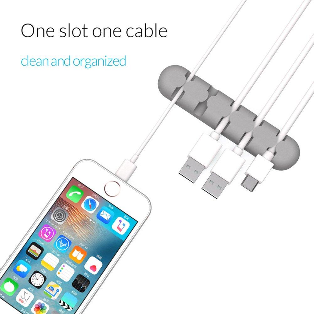 3 pcs Cable Holder 5 canales Cable Tidy Clips Gesti/ón de cables para el de escritorio USB Cable de carga BESNIN Clips de cable de escritorio