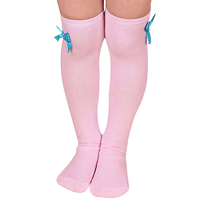 Baby Kinder Mädchen Socken Kniestrümpfe Strumpf Overknee Stützkniestrümpfe 1Paar