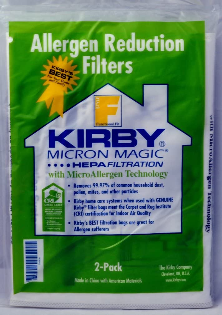 Kirby Allergen Reduction Bags Style F Part K-205808