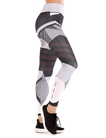 d95e7e222c257 RIBIKA Gym Leggings Women Glow Reflective Performance Workout Yoga Pants