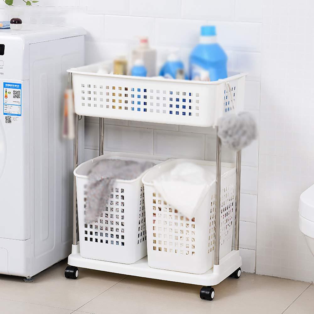 ベスト バスルーム棚/プラスチック/バスルーム洗面/トイレ/トイレ収納ラック/ベルトホイール/ランディング多層棚 (色 : 白, サイズ さいず : 56*34.5*120cm) B07RT6757J 白 56*34.5*120cm