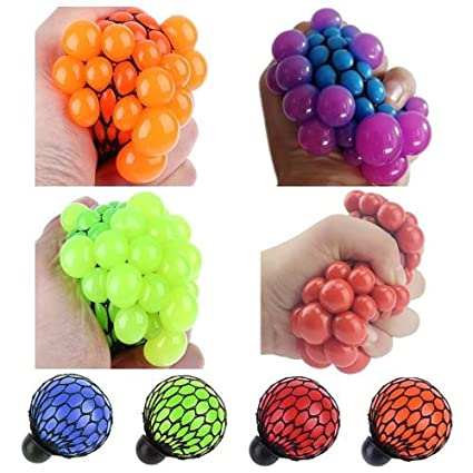 Cute Anti Stress Face Reliever Grape Ball Autism Mood Squeeze Relief Healthy Toy Funny Geek Gadget Vent Toys For Children Adults Quality First Gags & Practical Jokes
