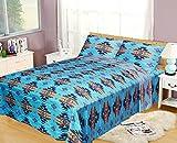 Southwest Design (Navajo Print) Turquoise Blue 4 piece Sheet Set Queen Size, Design #16112