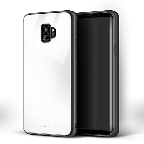 "promo code cfd33 3df4c Simai Galaxy S9 Case 9H Tempered Glass Back Cover for Samsung Galaxy S9  [5.8""]-White"