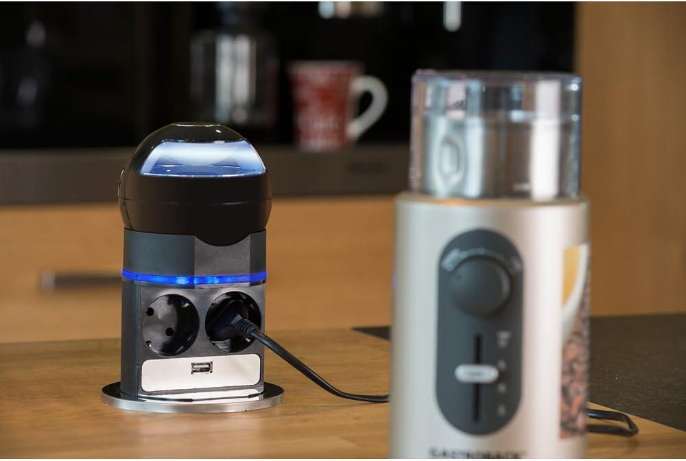 2 fach Steckdose VoltPort mit Bluetooth Lautsprecher