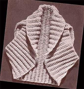 Hug Me Tight Bolero Shrug Knit Vintage Knitting Pattern - Kindle