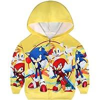 Sonic - Sudadera con capucha para niños, diseño de erizo