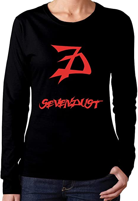 Sevendust Logo T Shirt Womens Stylish Cotton V Neck Short Sleeves T Shirts
