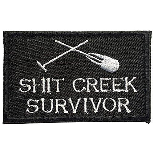Antrix Shit Creek Survivor Tactical Military Morale Patch - 3.15x2