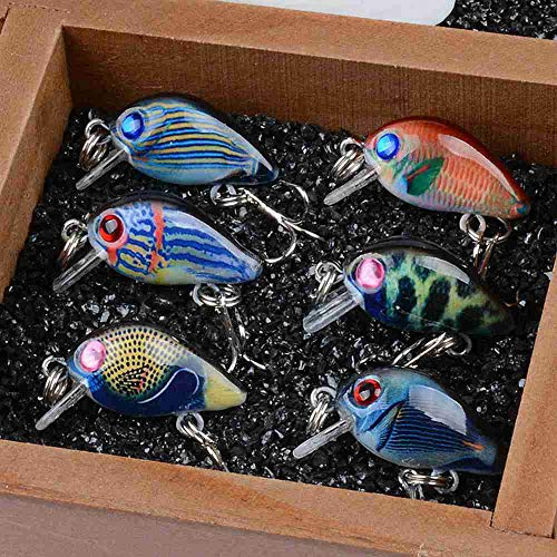 Fishing Lures - 6pcs/lot 1.5g 3cm Crankbaits Fishing Lures - Wobblers Painting Series for Fishing Topwater Artificial Bass Pesca