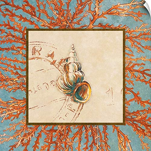 CANVAS ON DEMAND Coral Medley Shell III Wall Peel Art Print, 20