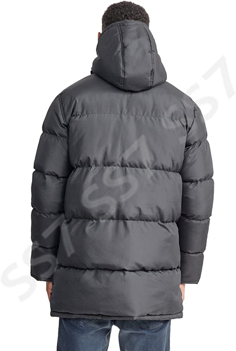 SS7 Boys Shower Proof Padded Parka Coat Grey Black Ages 7 to 13