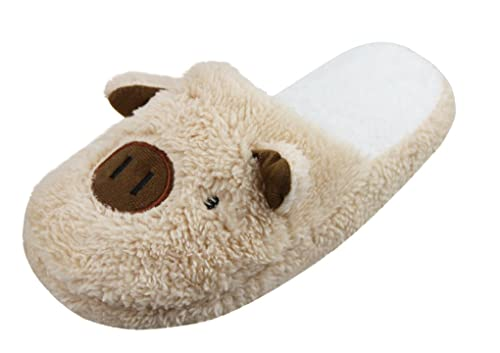 Winter Warm Couples Indoor Slipper Cute Cartoon Pig Plush House Shoes Non Slip Slipper